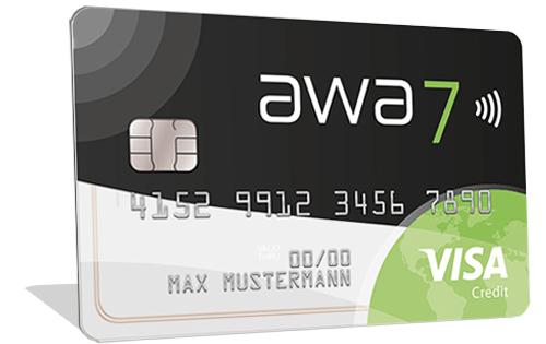 awa7 Visa Kreditkarte